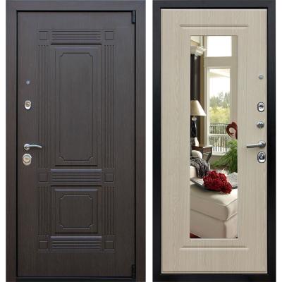 входные металлические двери в квартиру с зеркалом недорого